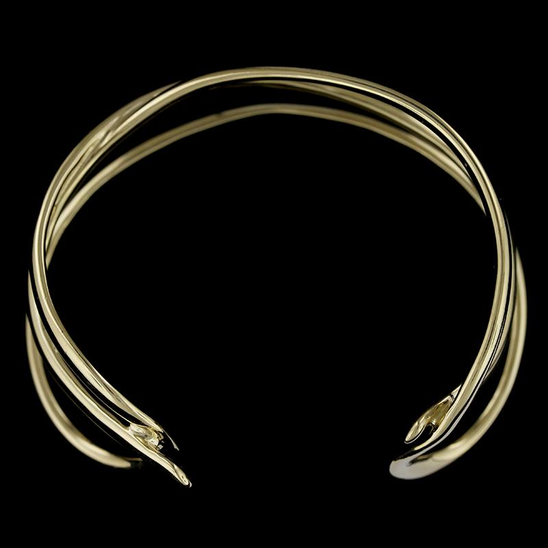 Tiffany & Co. 18K Yellow Gold Crossover Cuff Bracelet