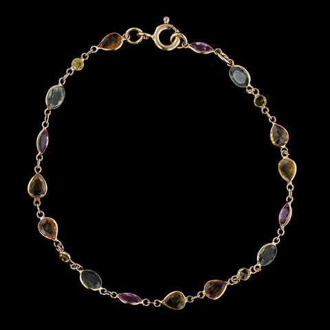 18K Rose Gold Colored Sapphire Bracelet