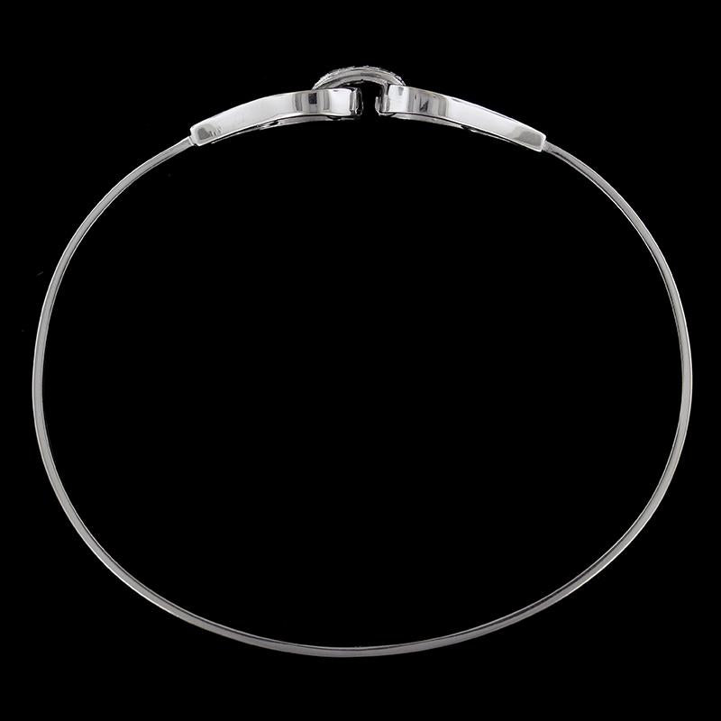 18K White Gold Bangle
