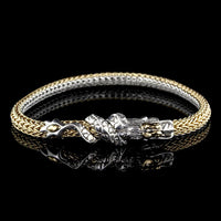 John Hardy Sterling Silver and 18K Yellow Gold Naga Dragon Bracelet