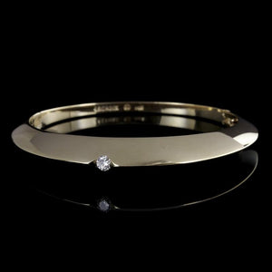 Pascal Lacroix 14K Yellow Gold and Diamond Bangle