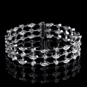 18K White Gold Estate Diamond Bracelet