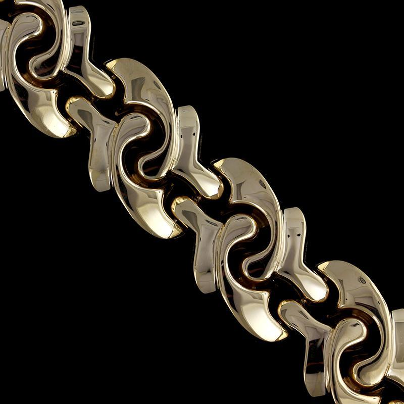 14K Yellow Gold Estate Fancy Link Bracelet