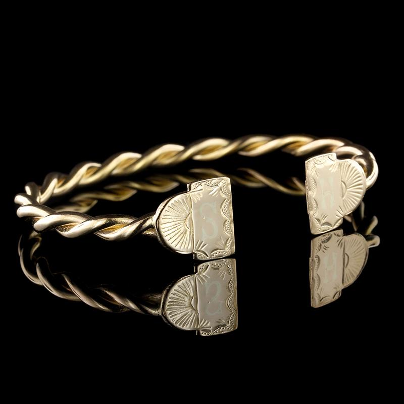 18K Yellow Gold Estate Cuff Bracelet
