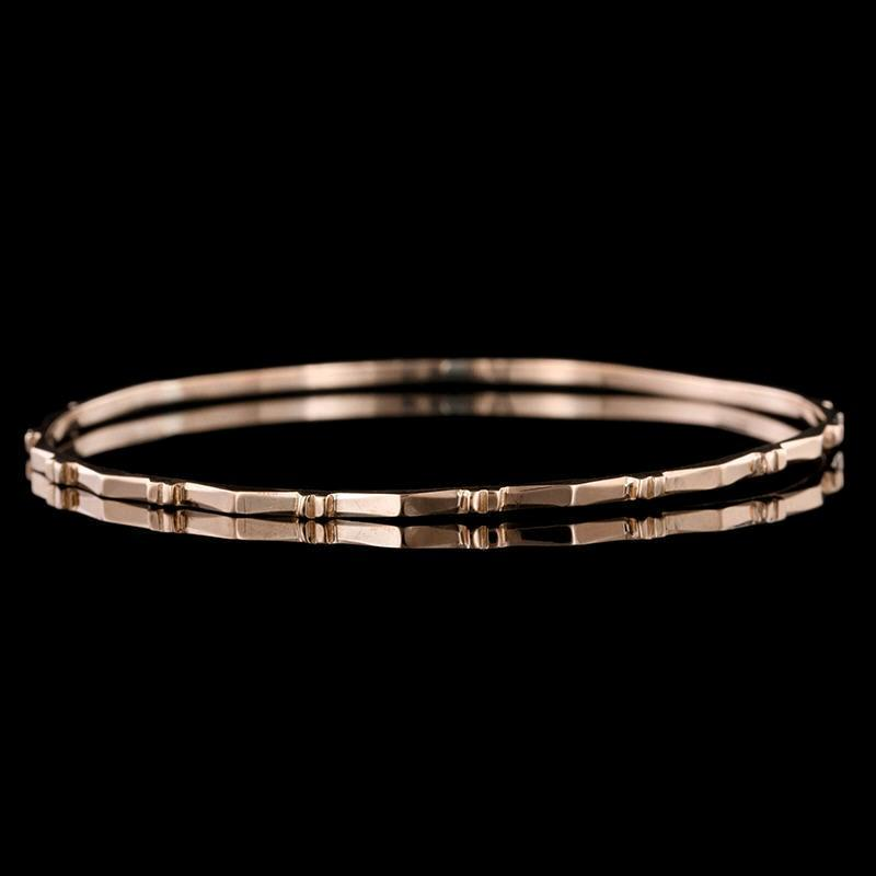18K Rose Gold Estate Bangle Bracelet