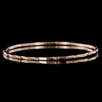 18K Rose Gold Bangle Bracelet