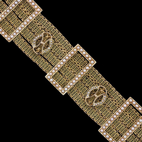 Charriol 18K White Gold Bar Bracelet