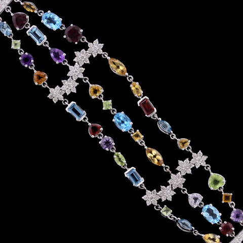 18K White Gold Gem-Set Bracelet