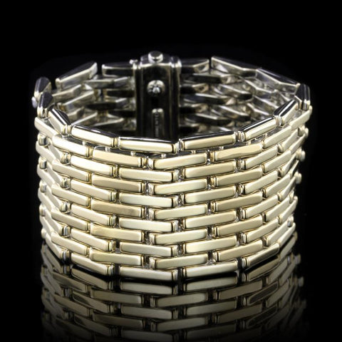 Chimento 18K Yellow and White Gold Estate Reversible Bracelet, Italy
