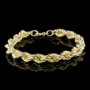 18K Yellow Gold Estate Rope Bracelet
