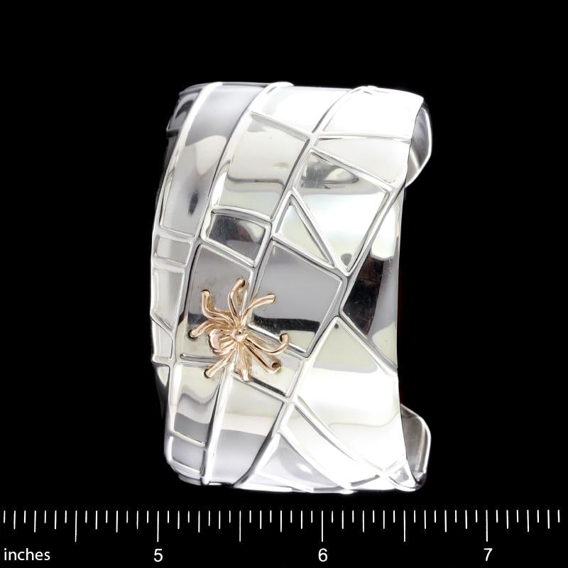 Tiffany & Co. Sterling Silver and 18K Yellow Gold Spider Cuff Bracelet