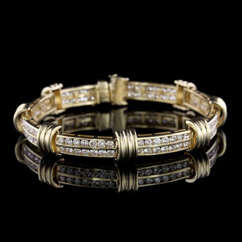 14K Yellow Gold Diamond Bracelet