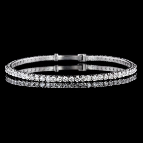 Tacori 18K White Gold Diamond Bangle