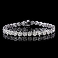 14K White Gold Estate Diamond Bracelet