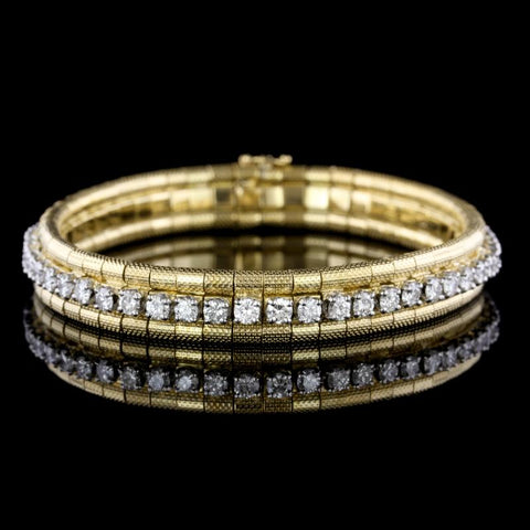 18K Two-Tone Gold Diamond Bracelet