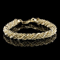 14K Yellow Gold Estate Twisted Rope Bracelet