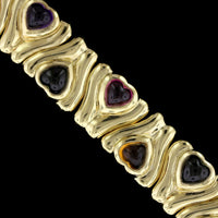 18K Yellow Gold Estate Gem-Set Bracelet