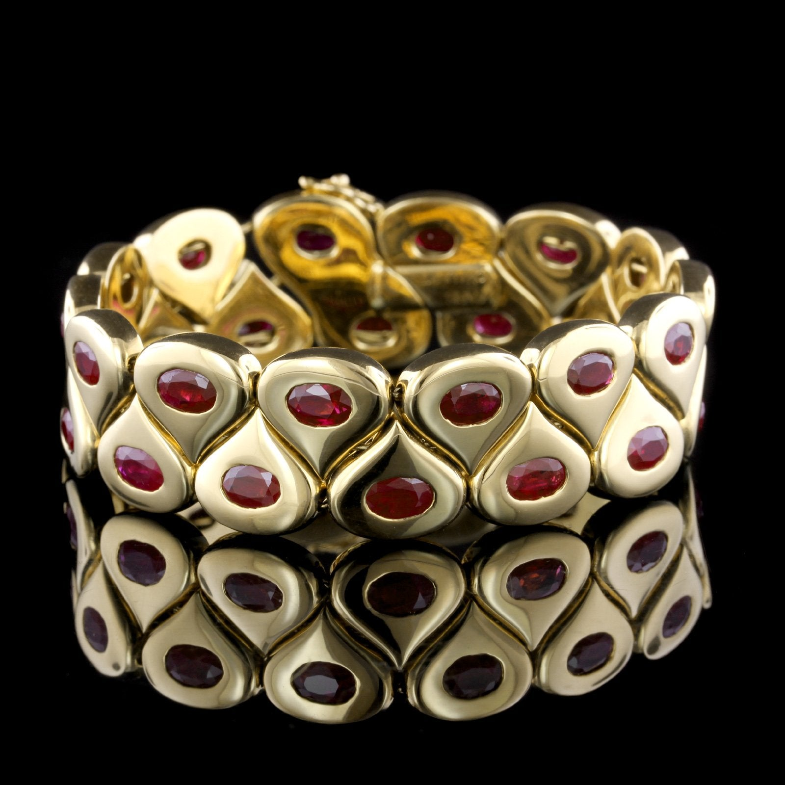 Chaumet 18K Yellow Gold Estate Ruby Bracelet, Paris