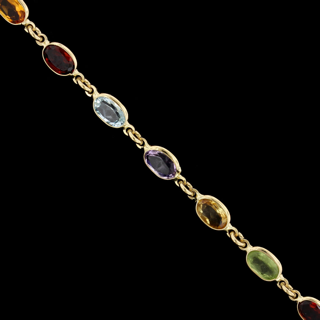 18K Yellow Gem-set Bracelet