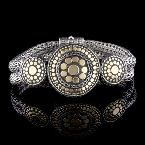 John Hardy Sterling Silver and 18K Yellow Gold Jaisalmer Dot Bracelet