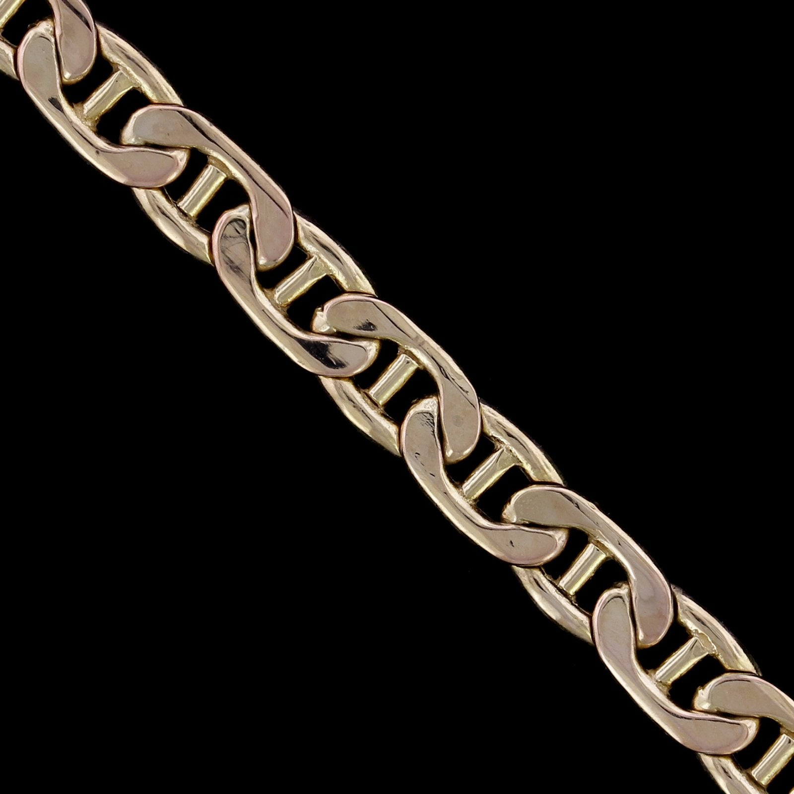 14K Yellow Gold Estate Mariner Link Bracelet