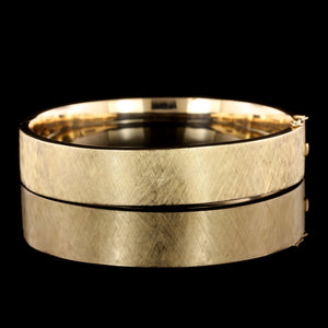 18K Yellow Gold Estate Bangle