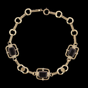 14K Yellow Gold EstateGarnet Bracelet