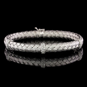 Roberto Coin 18K White Gold Estate Diamond Bracelet