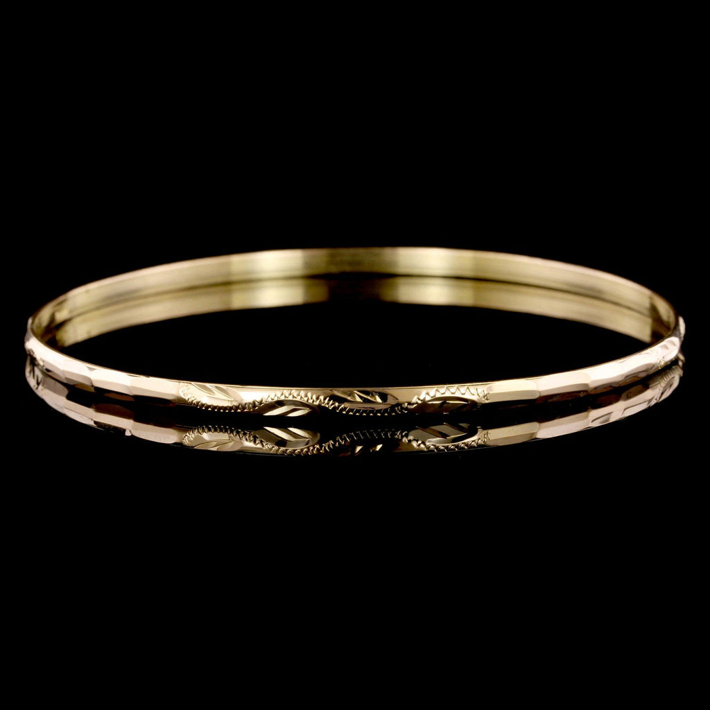 21K Yellow Gold Estate Bangle Bracelet