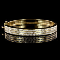 14K Yellow Gold Estate Diamond Bangle