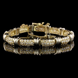 14K Two-tone Gold Estate Diamond Bracelet