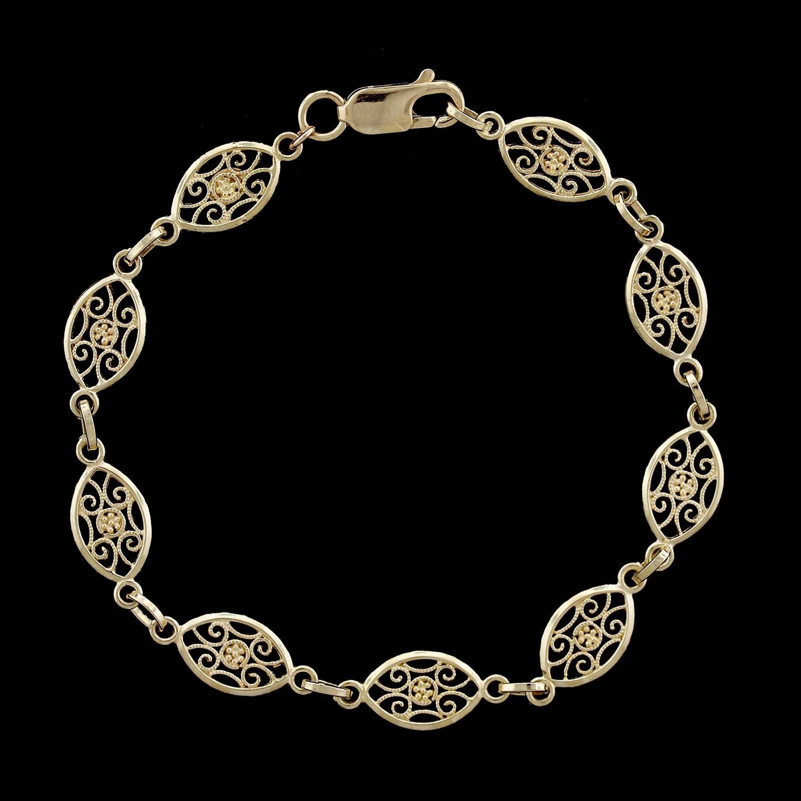 18K Yellow Gold Estate Fancy Link Bracelet