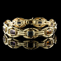 14K Yellow Gold Estate Gem-set Bracelet