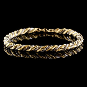 18K Two-tone Gold Estate Bracelet