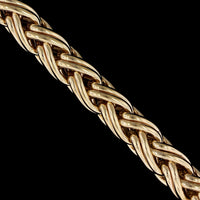 14K Yellow Gold Estate Wheat Bracelet