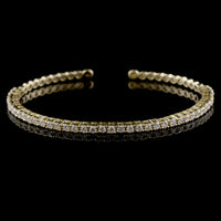 18K Yellow Gold Estate Diamond Bracelet