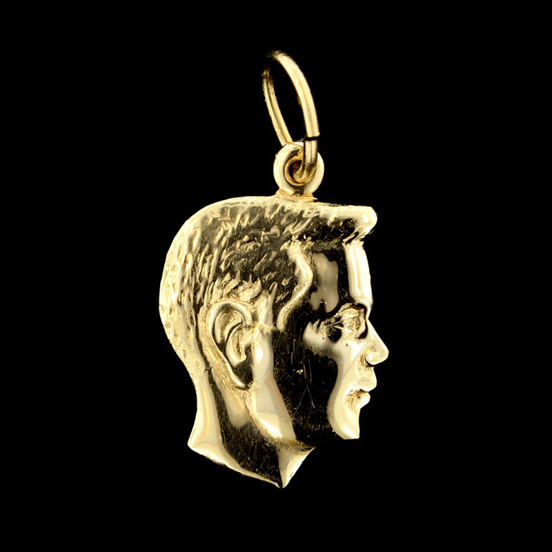 14K Yellow Gold Boy's Head Charm
