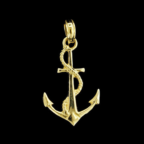 14K Yellow Gold Anchor Charm</p>