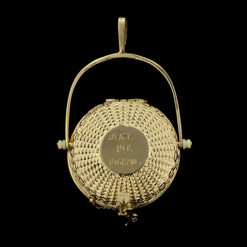 14K Yellow Gold Nantucket basket by Diana Kim England