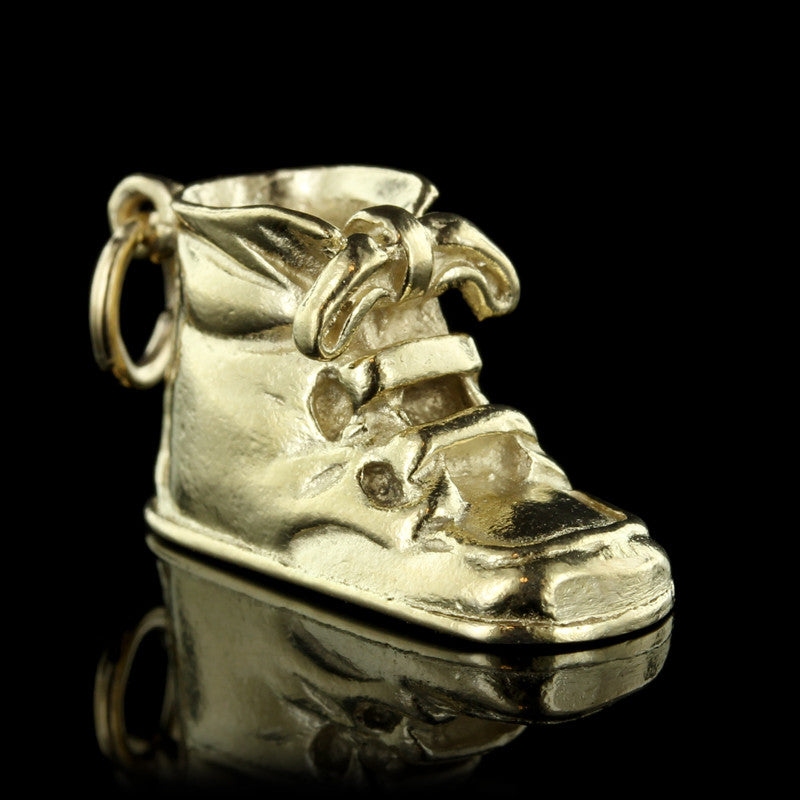 14K Yellow Gold Baby Bootie Charm
