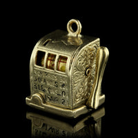 14K Yellow Gold Slot Machine Charm