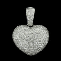 18K White Gold Diamond Heart Enhancer