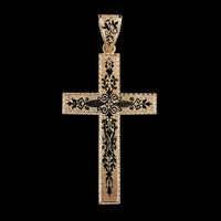 Antique Victorian 14K Rose Gold Enamel Cross