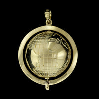 18K Yellow Gold Globe Charm