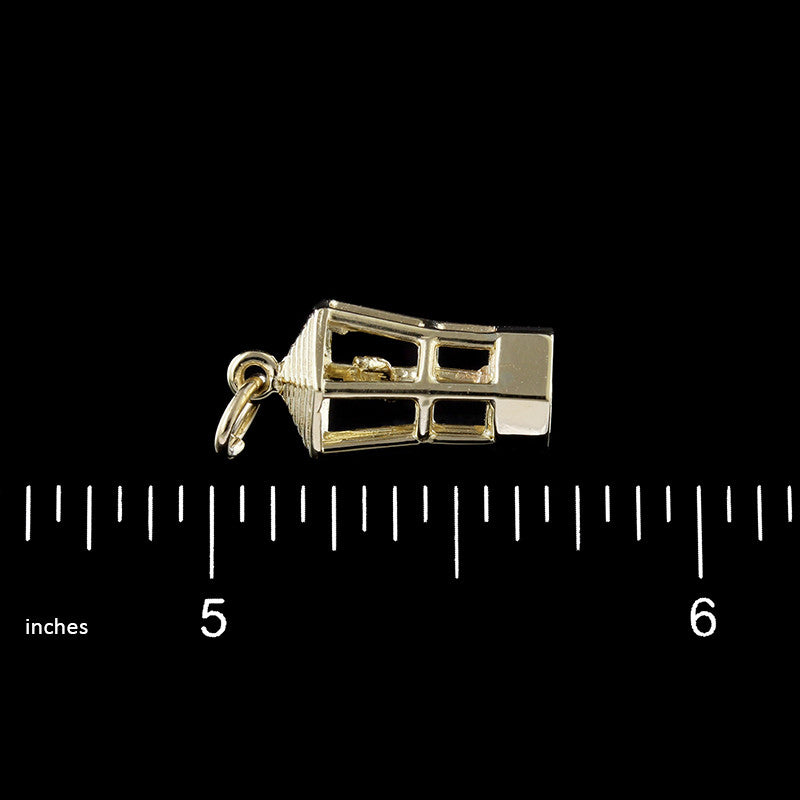 14K Yellow Gold Bermuda Traffic Director Charm