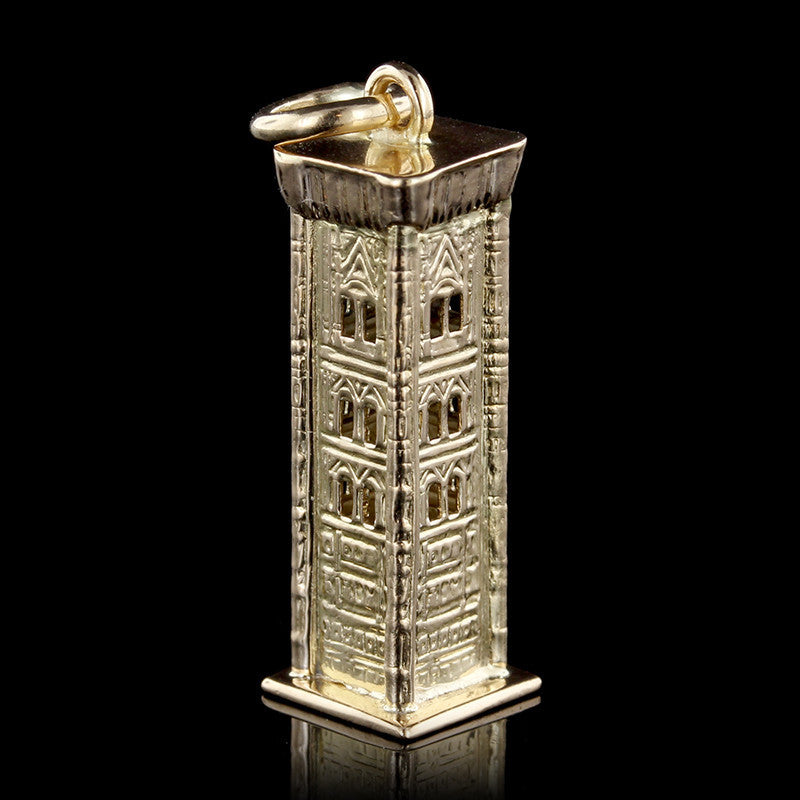 18K Yellow Gold Giotto Bell Tower Charm