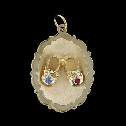14K Yellow Gold Baby Shoe Charm