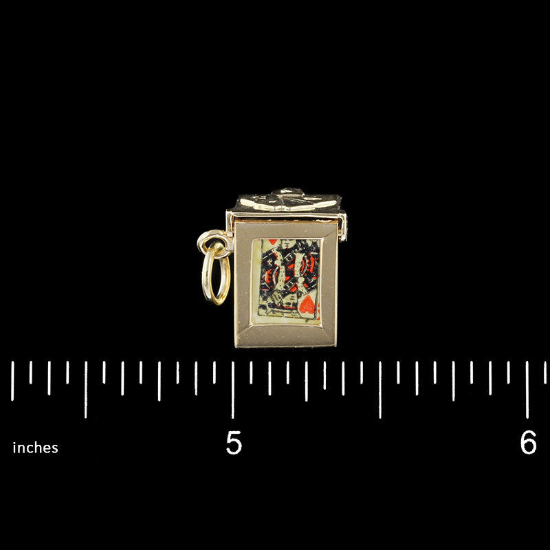14K Yellow Gold Deck of Cards Charm