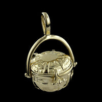 14K Yellow Gold Nantucket Basket Charm
