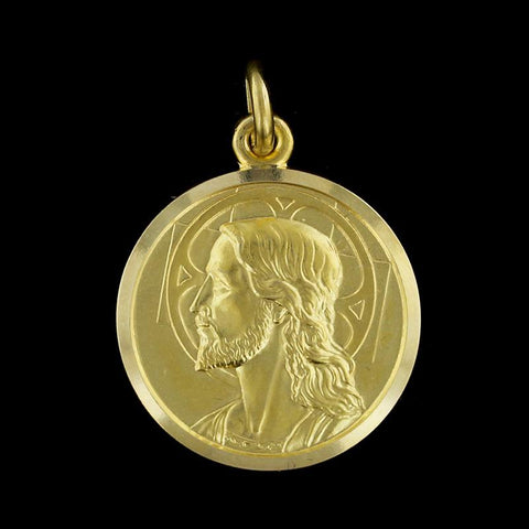 18K Yellow Gold God Protect You Medal
